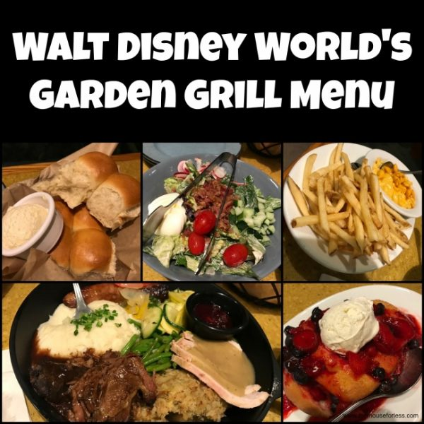 The Garden Grill Restaurant Menu Epcot At Walt Disney World