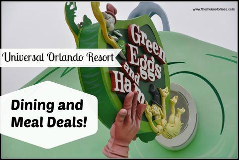 Universal Orlando Resort Meal Deals