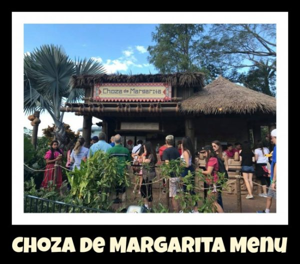 Choza de Margarita Menu