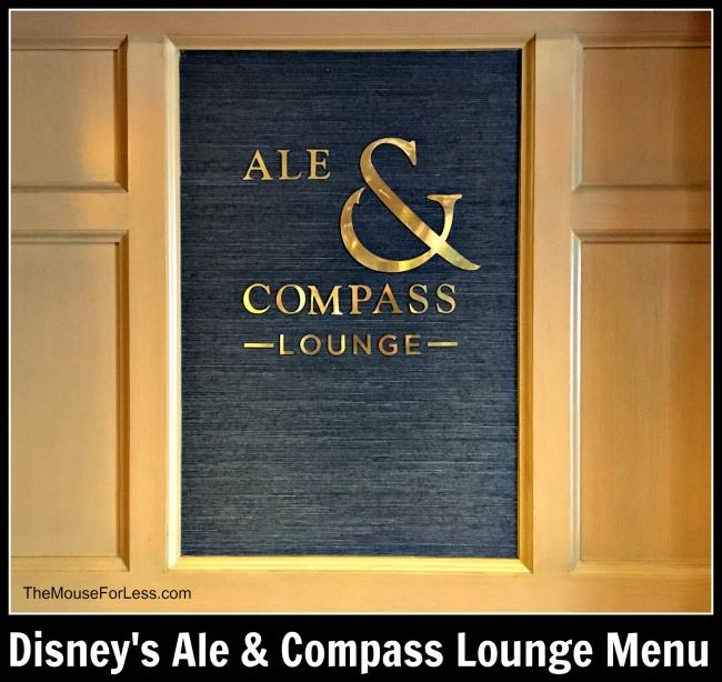 Ale & Compass Lounge Menu