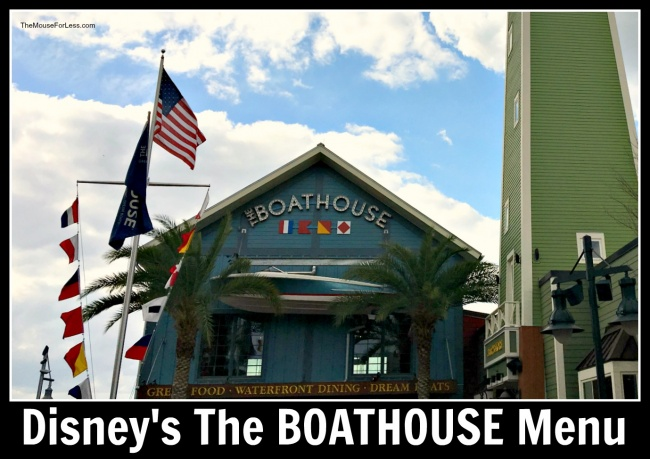 The BOATHOUSE Menu