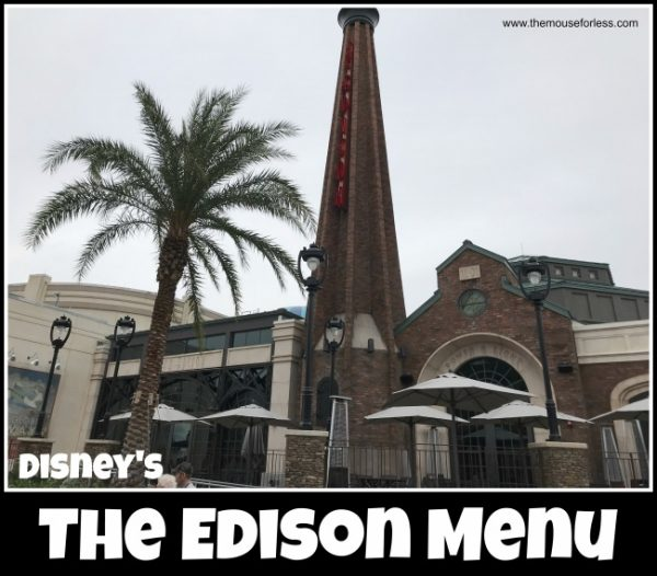 The Edison Menu