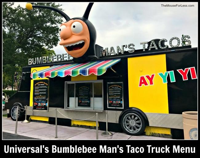 Bumblebee Mans Taco Truck Menu