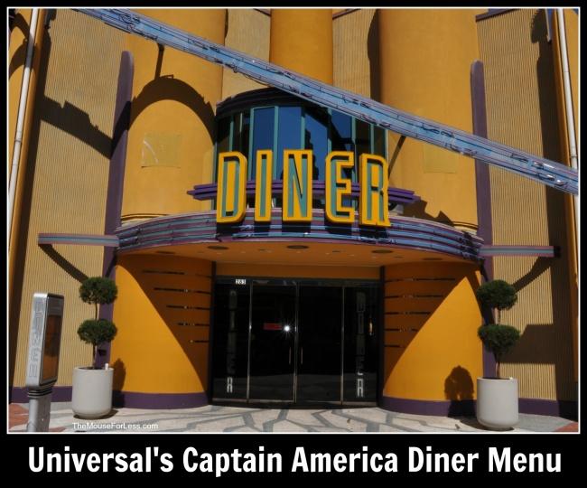 Universal's Captain America Diner Menu