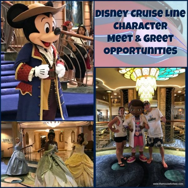 Disney Cruise Line Character Meet & Greet Information