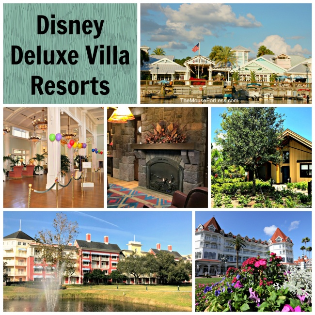 Walt Disney World Deluxe Villa Resorts