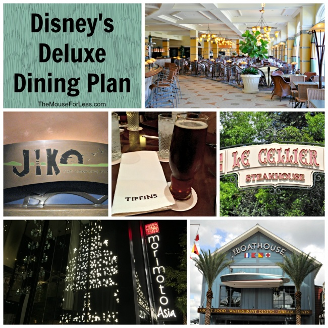 Disney Deluxe Dining Plan Guide Walt Disney World