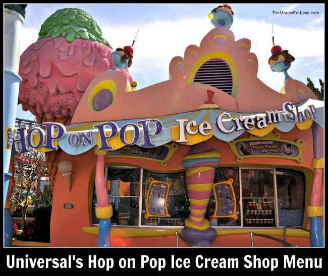 Universal's Hop on Pop Ice Cream