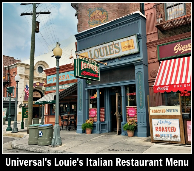Louie's Italian Restaurant Menu