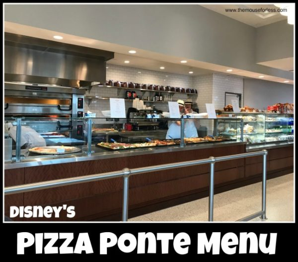 Pizza Ponte Menu