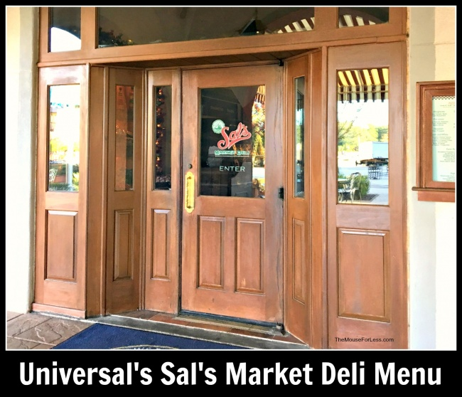 Sal's Market Deli Menu at Universal Orlando
