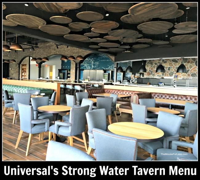 Strong Water Tavern Menu