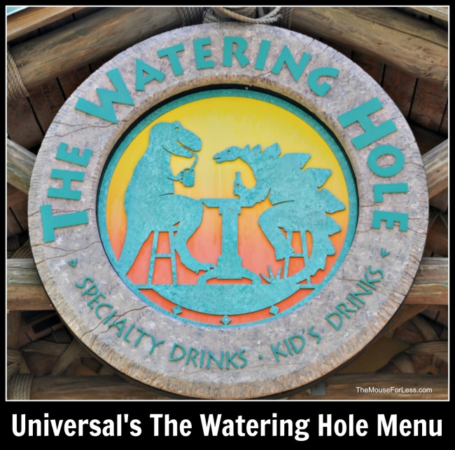 Universal's The Watering Hole Menu