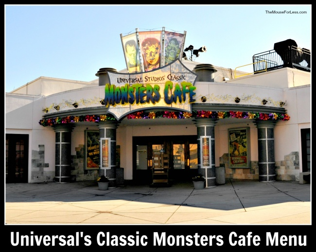 Universal Studios' Classic Monsters Cafe Menu