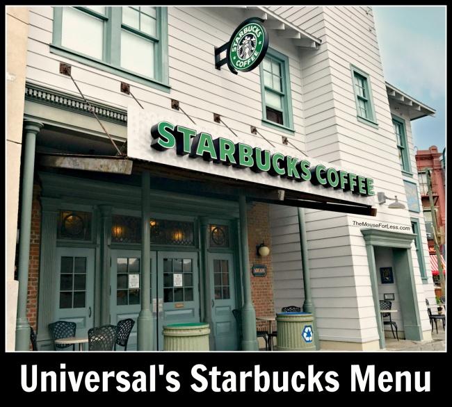 Universal's Starbucks Menu