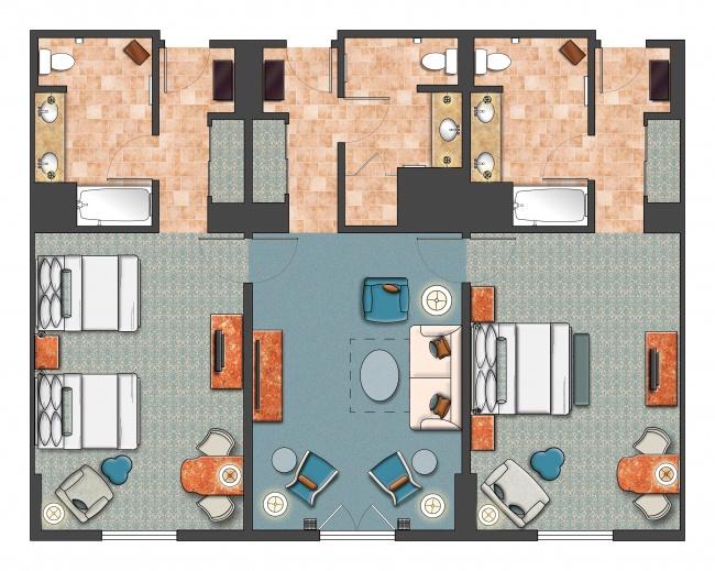 1 Room Apartment Floor Plans