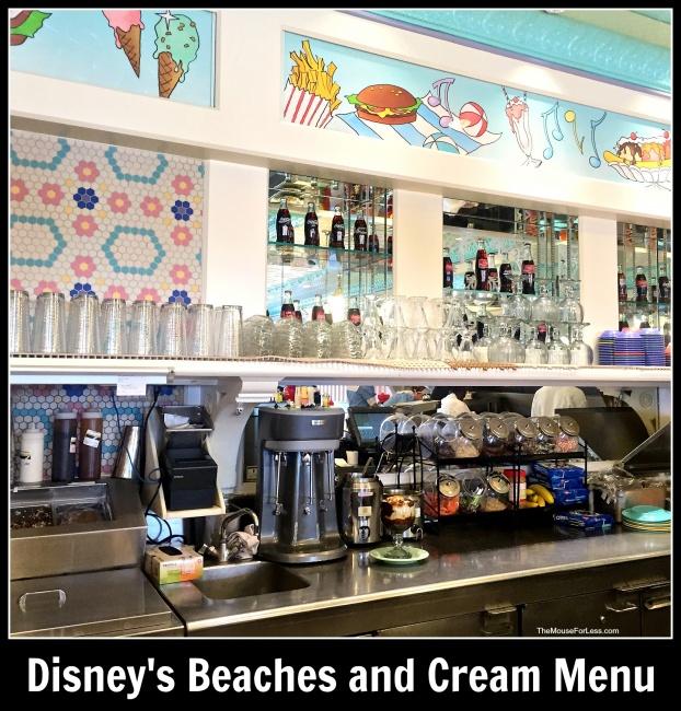 Beaches And Cream Menu Disney S Beach Club Resort