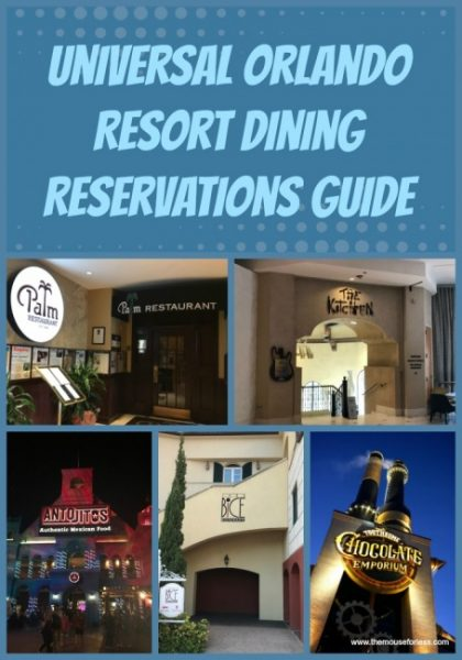 Dining Reservations at Universal Orlando Resort