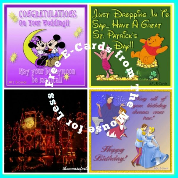Free Disney Themed e-cards