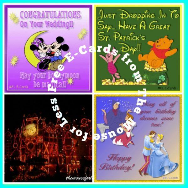Free Disney Themed e-cards