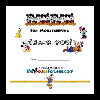 Disney Mousekeeping Envelopes