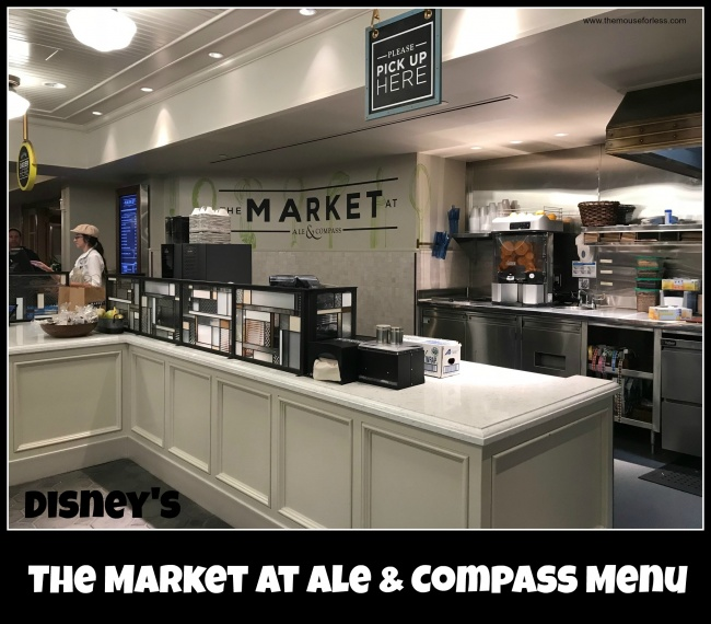 The Market At Ale Compass Menu Walt Disney World Resort