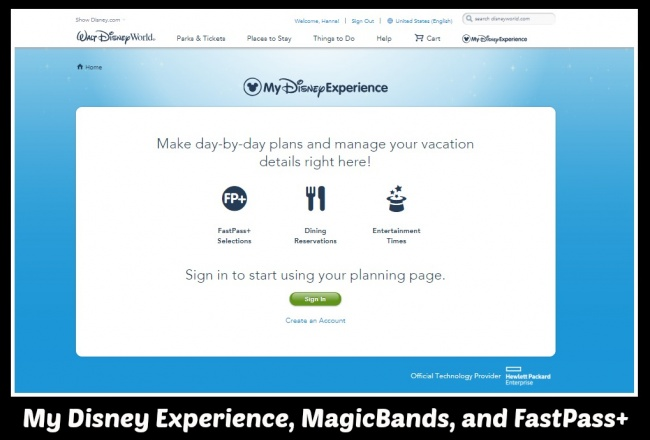 My Disney Experience, MagicBands, and Fastpass+