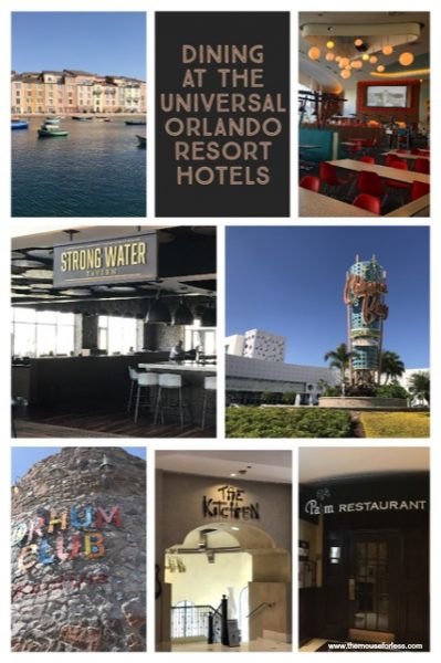 Dining at the Universal Orlando Resort Hotels