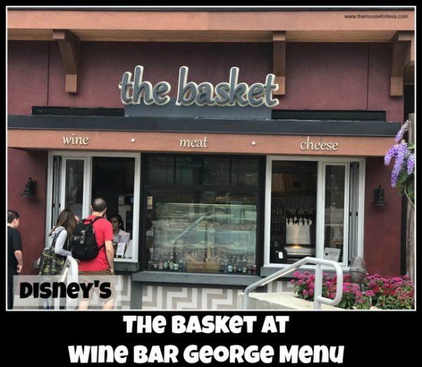 The Basket at Wine Bar George Menu
