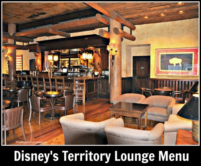 Territory Lounge Menu