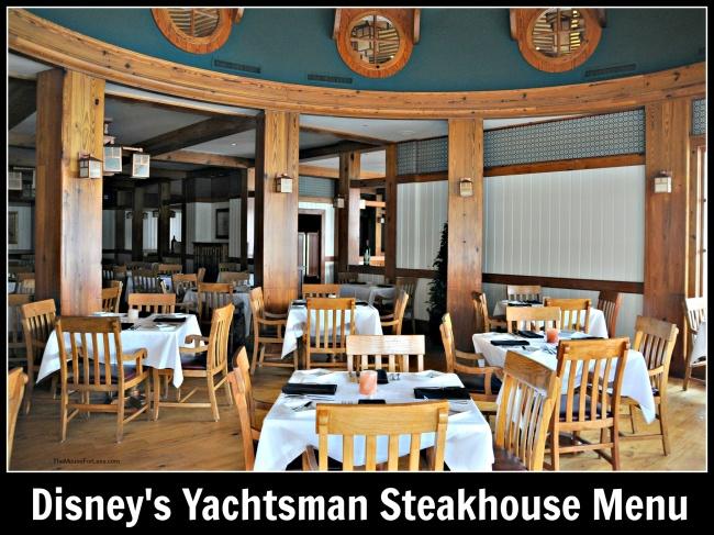 Yachtsman Steakhouse Menu