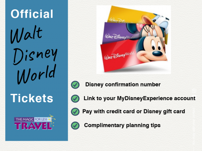 Walt Disney World discount tickets