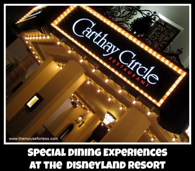 Disneyland Dining Experiences