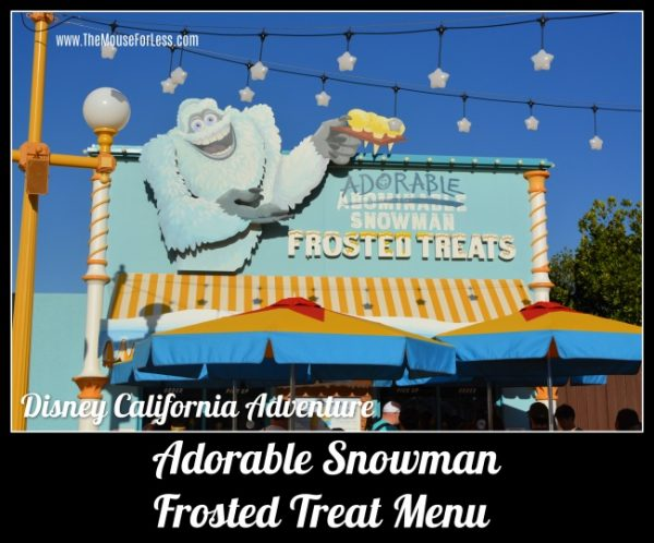 Adorable Snowman Frosted Treats Menu