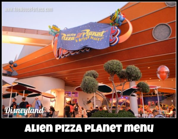 Alien Pizza Planet Menu
