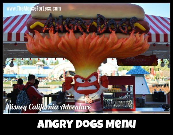 Angry Dog's Menu