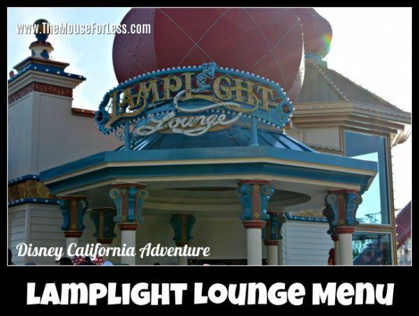 Lamplight Lounge Menu