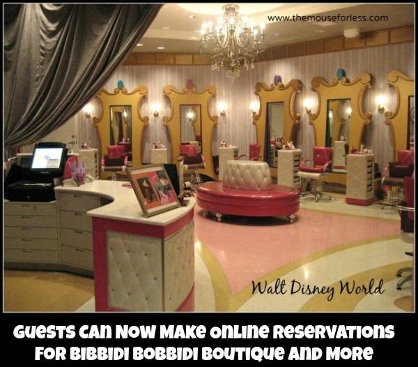 Bibbidi Bobbidi Boutique Online Reservations