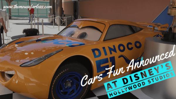 Cars Fun Announced for Disney's Hollywood Studios