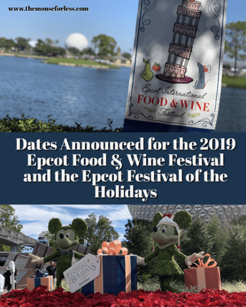 Disney Announces Dates for Epcot Food and Wine Festival and Epcot Festival of the Holidays