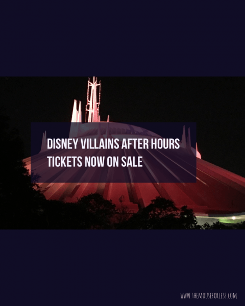 Disney Villains After Hours Tickets On Sale