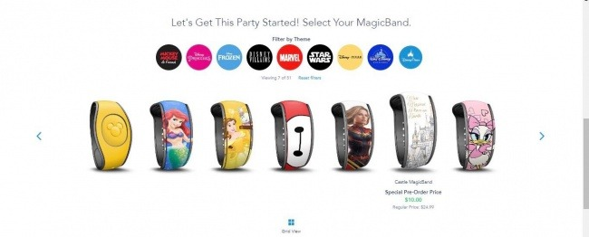 Premium Beloved Disney Characters for your MagicBand