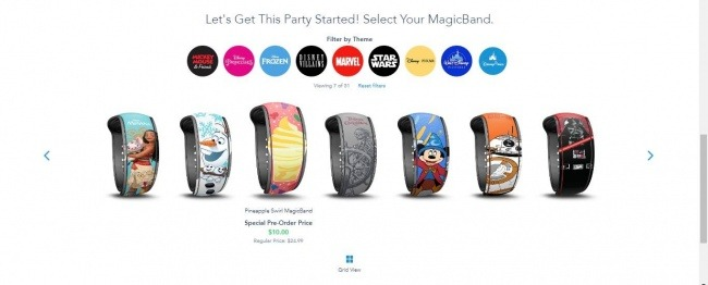 Select Your MagicBand Designs