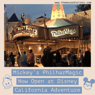 Mickey's PhilharMagic Now Open at Disney California Adventure