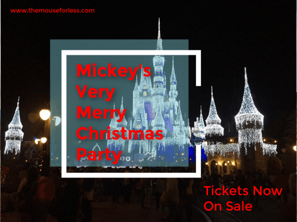 Mickey's Very Merry Christmas Party Tickets Now On Sale