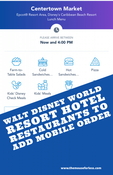 Walt Disney World Resort Hotel Restaurants to Add Mobile Order