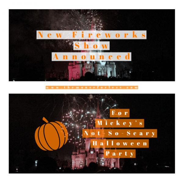 Mickey's Not-So-Scary Halloween Party | New Fireworks Show