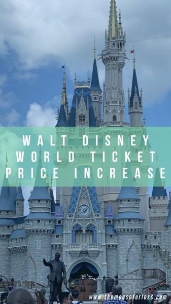Walt Disney World Ticket Pricing Increase
