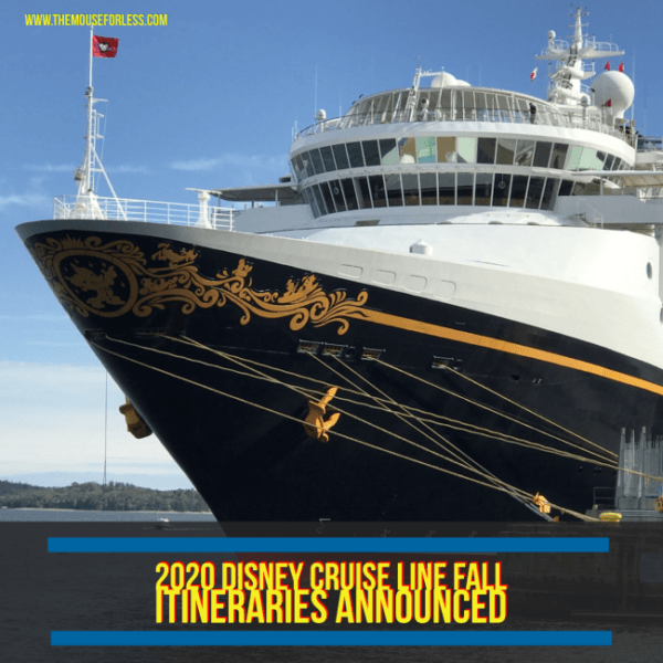 Disney Cruise 2020.2020 Fall Itineraries Announced For Disney Cruise Line
