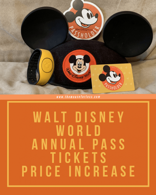 Walt Disney World Annual Pass Pricing Increases Drastically